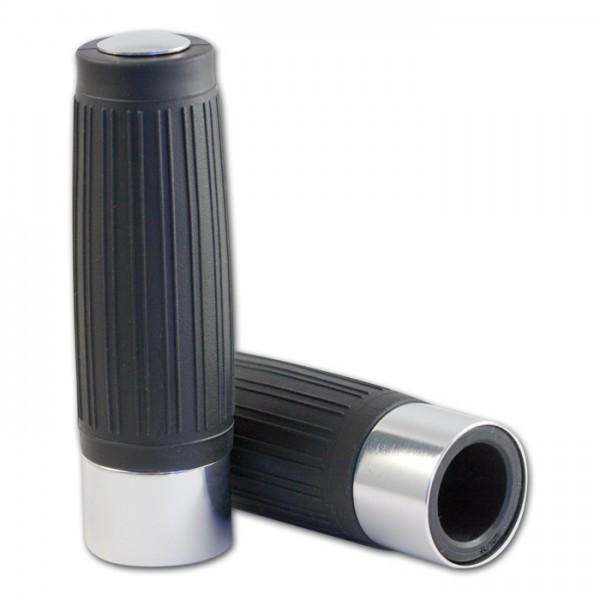 Custom Griff schwarz 1 Zoll Aluring und Enkappe in chrom