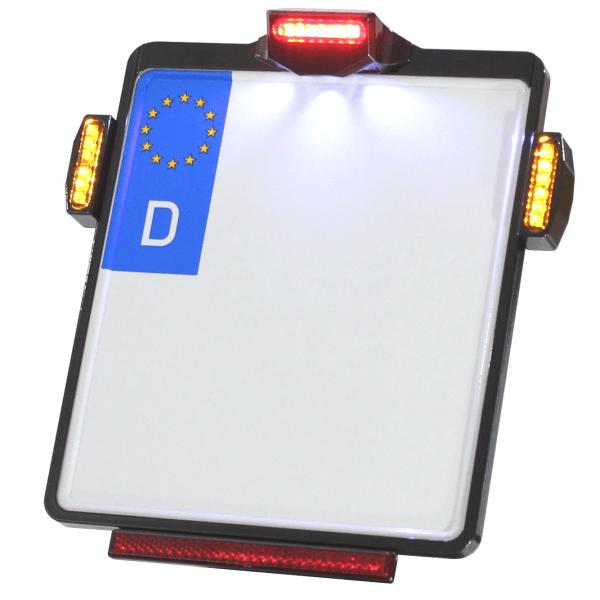 Kennzeichenplatte IOMP | Rücklicht | Kennzeichenbeleuchtung | JAX Blinker