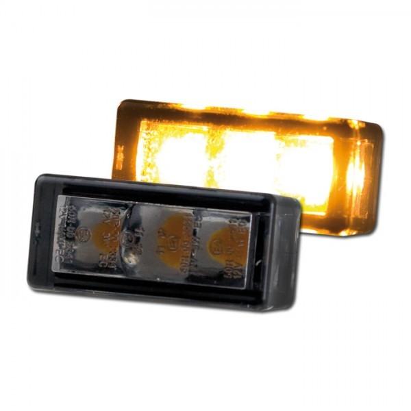LED - Einbaublinkerset, getönt, Paar, 3 x SMD, Maße: B 24 x H 12 x T 11 mm, E-geprüft