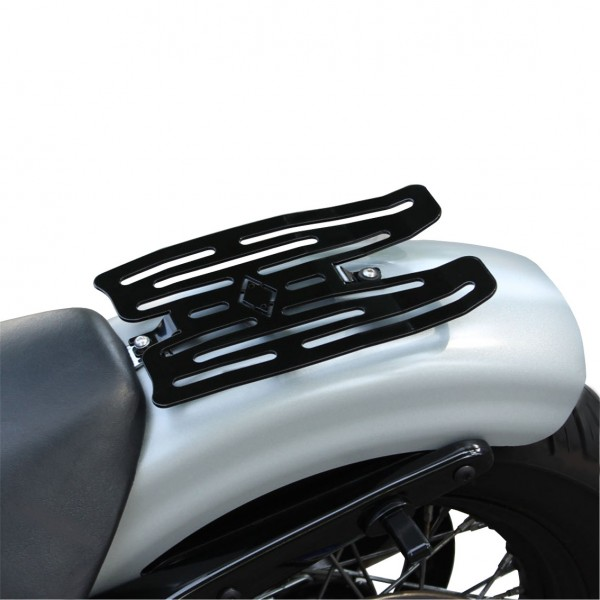 """""""IRON OPTICS"""" Gepäckträger für Harley Davidson Sportster Modelle mit Sitzhöcker"""