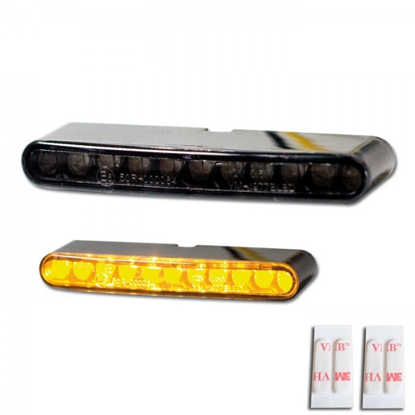 LED - Einbaublinkerset, getönt, Paar, Maße: B 53 x H 7 x T 15 mm, E-geprüft