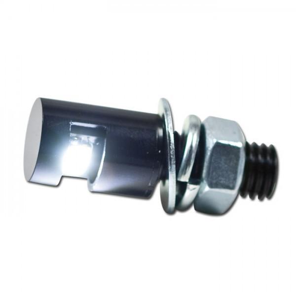 SMD Leuchtschraube, Kennzeichenbeleuchtung Alu, schwarz, Kopf D= 12 x 17 mm, M8 / E-geprüft