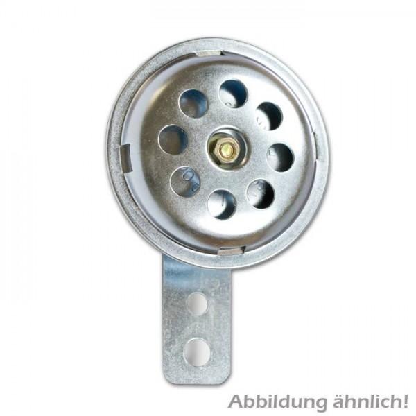 Hupe 12 V, klein, Ø 75 mm, verchromt