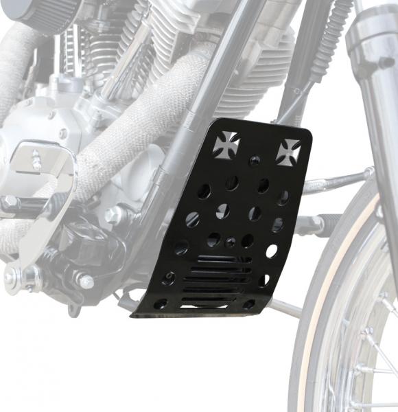 """""""IRON OPTICS"""" Bugspoiler / Motorschutz für Harley Davidson Softail bis Bj. 2008 / Kreuz"""