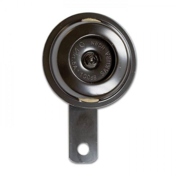 Hupe 12 V, klein, Ø 75 mm, schwarz