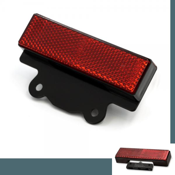 LED Kennzeichenbeleuchtung - Reflektor mit Halter KBK6 - schwarz - E-geprüft