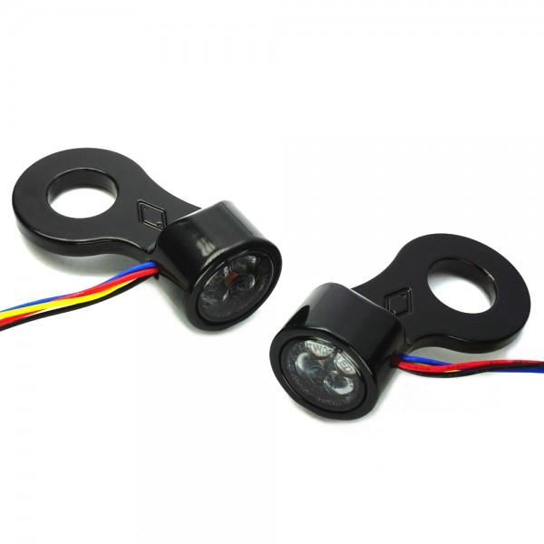 SMD Blinker 3 in 1 für hinteren Stoßdämpfer mit Blinkerhalter IOMP - PINEY