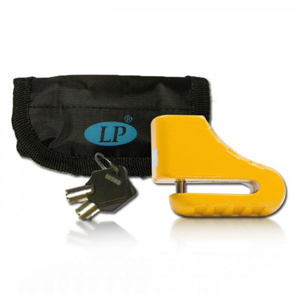 Bremsscheibenschloß, gelb 5,5 mm, mit Tasche im Blister