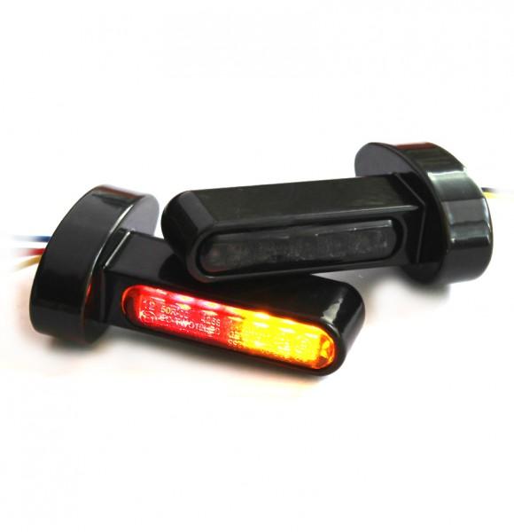 """""""IOMP"""" LED Blinker + Rücklicht + Bremslicht LONG für Fender-Struts Typ 1 HD-Modelle"""