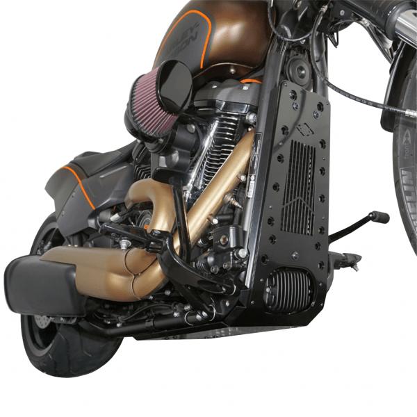 Motorschutz Unterfahrschutz Bugspoiler schwarz/schwarz für Harley Davidson Softail FXDR ab Bj. 2019