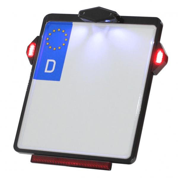 Kennzeichenplatte IOMP | Kennzeichenbeleuchtung | TIG Rücklicht