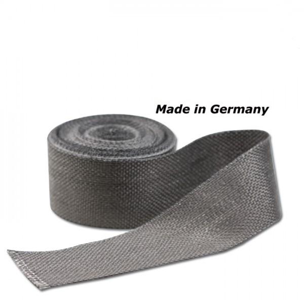 Hitzeschutzband Silent Sport Anthrazit, Maße: 50 mm x 1 mm x 10 m, Hitzebeständig bis 750°C