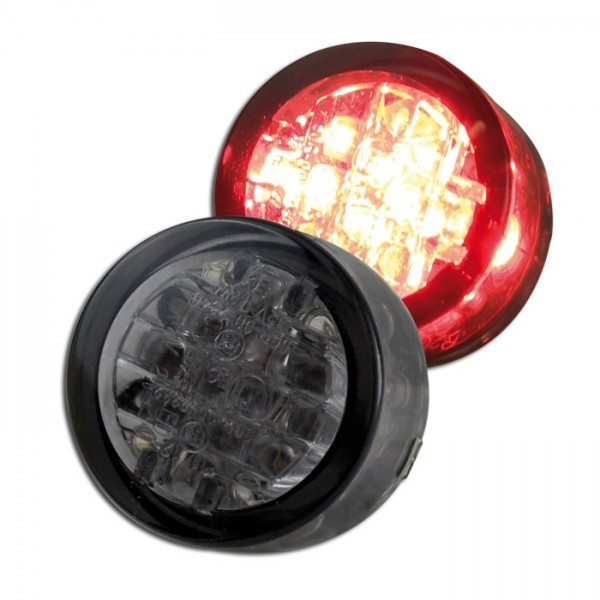 LED - Einbaurücklicht, getönt, Maße: Ø = 20 x T 13 mm, E-geprüft