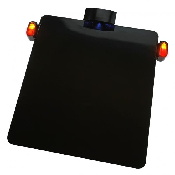 Kennzeichenhalter Platte mit KZ Beleuchtung + mini LED 3 in 1