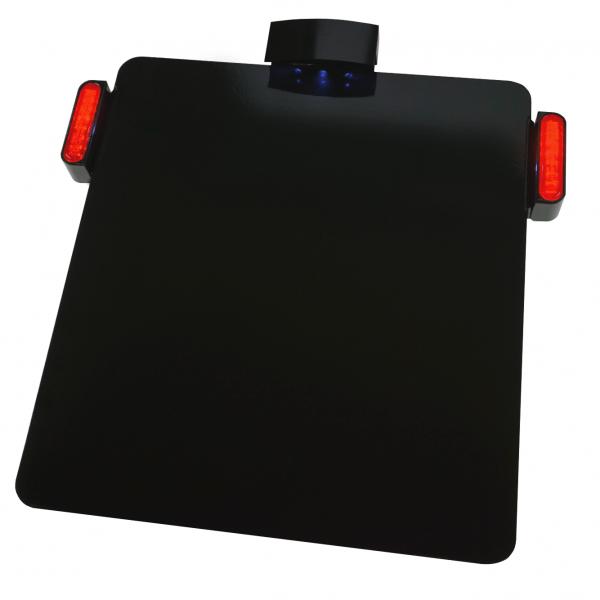 Kennzeichenhalter Platte mit KZ Beleuchtung + LED Bremslicht / Rücklicht