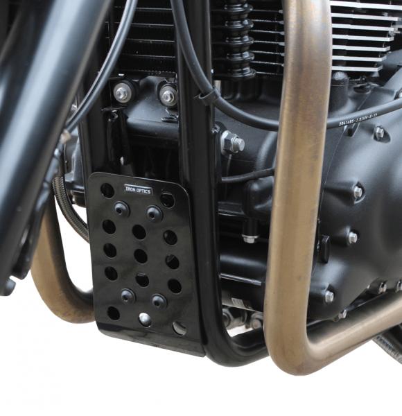 """IRON OPTICS"" Bugspoiler / Motorschutz für Triumph Bonneville Scrambler Thruxton Bj. 2006-2015"