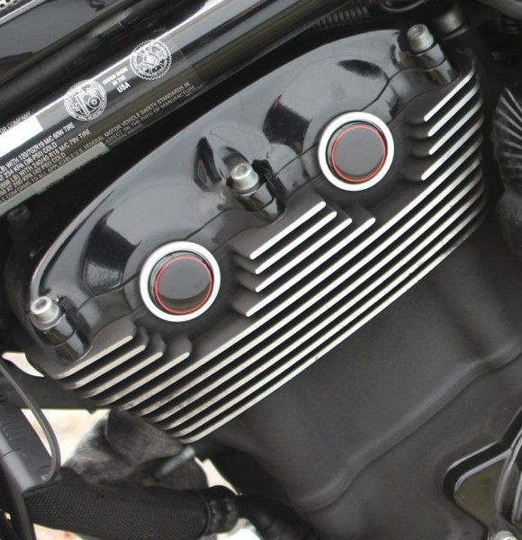 """IRON OPTICS"" Cam-/ Nockenwellen Cover 3D für Harley Davidson V-Rod Modelle / Rahmen Rot"