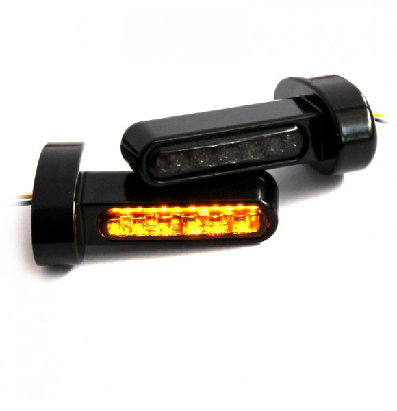 IOMP LED Blinker Blinkerhalter für Lenkerarmaturen universal schwarz Typ 4