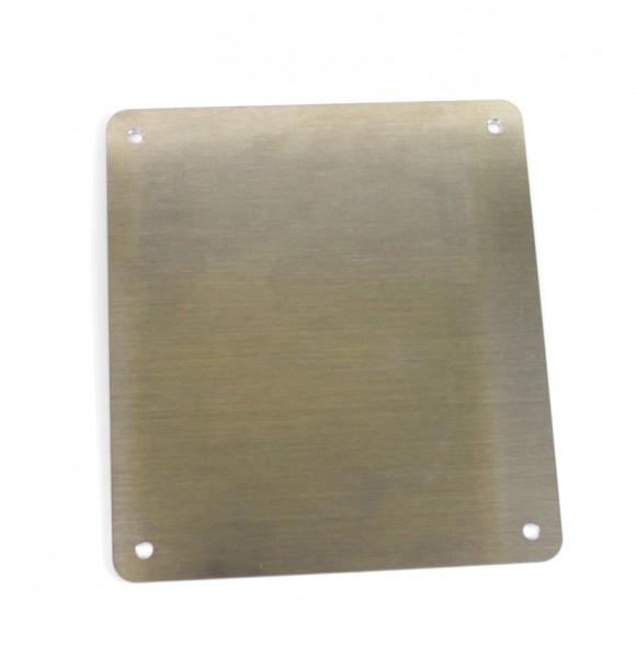 Kennzeichengrundplatte Alu blank 180 mm x 200 mm