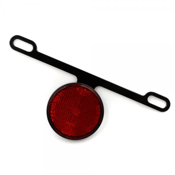 Reflektor - Rückstrahler mit Halter RUB7 - rot - D60 - E-geprüft