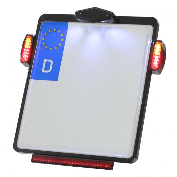 Kennzeichenplatte IOMP | Kennzeichenbeleuchtung | JAX 3 in 1