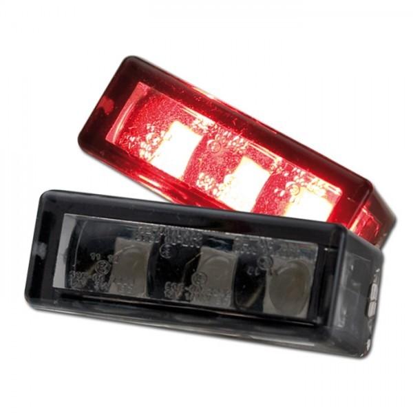 LED Einbaurücklicht, getönt, 3 x SMD, Maße: B 27 x H 10 x T 12 mm, E-geprüft