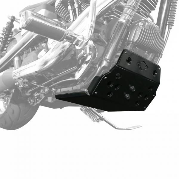Motorschutz Unterfahrschutz Bugspoiler schwarz/schwarz für Harley Davidson Dyna Modelle Bj. 90-17