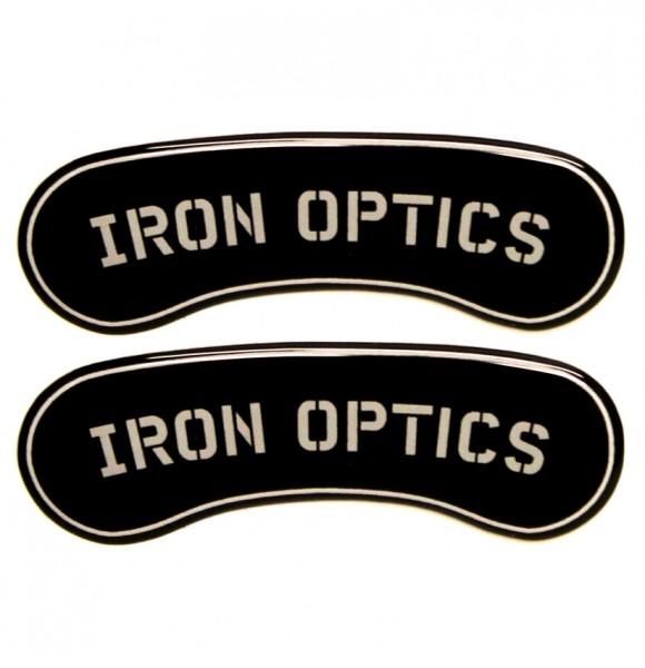 """""""IRON OPTICS"""" Bremssattel Cover 3D für Harley Davidson Modelle / Logo"""