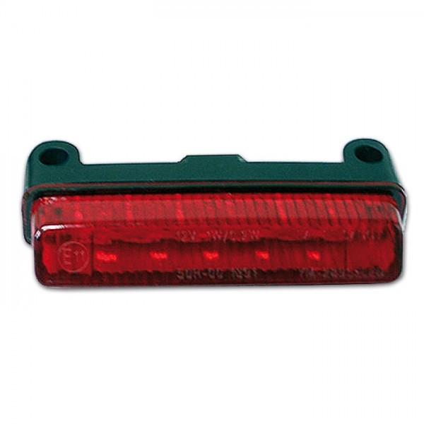 LED-Mini Rücklicht, rot, ohne KZB, Maße: B 78 x H 16 x T 32 mm, E-geprüft