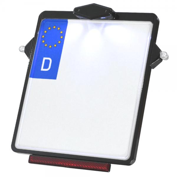 Kennzeichenplatte IOMP | Kennzeichenbeleuchtung | für D8 Blinker
