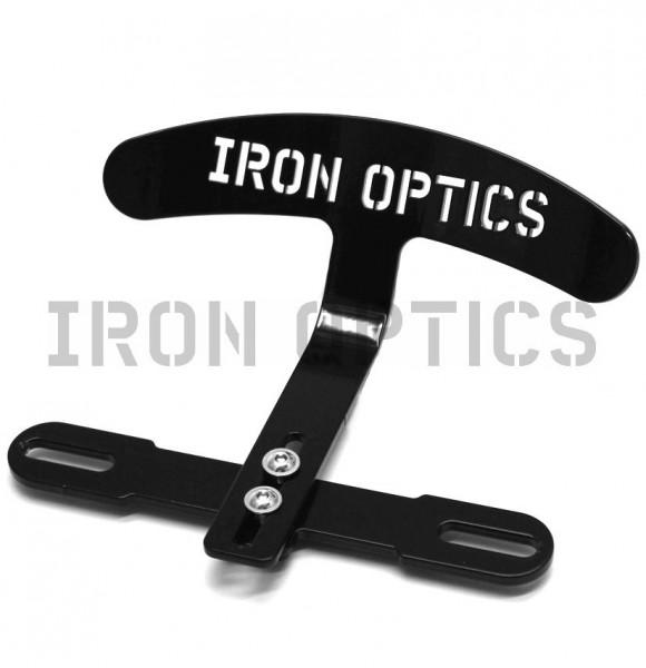 """IRON OPTICS"" Solositz Rückenlehne Logo"