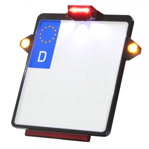 Kennzeichenplatte IOMP | Rücklicht | Kennzeichenbeleuchtung | PINEY Blinker