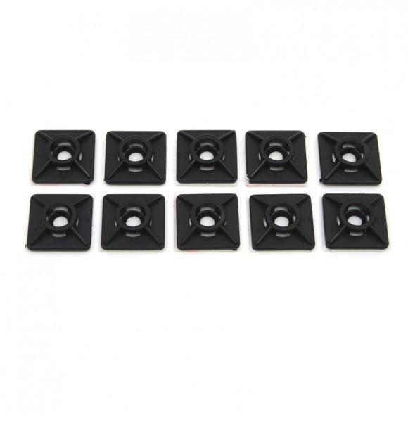 10x Kabelbinderhalter -/ Sockel 19x19 schwarz