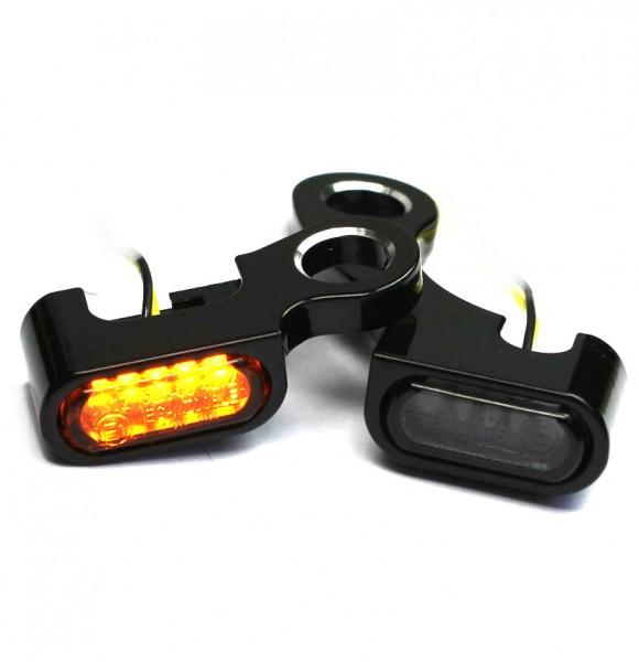 IOMP Lenkerarmaturen LED Blinker / 21,5x8,5 / für HD Modelle