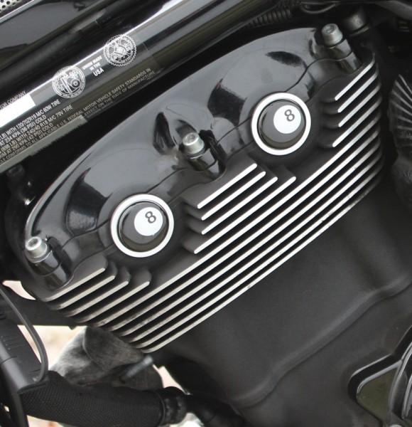 """IRON OPTICS"" Cam-/ Nockenwellen Cover 3D für Harley Davidson V-Rod Modelle / eight ball"