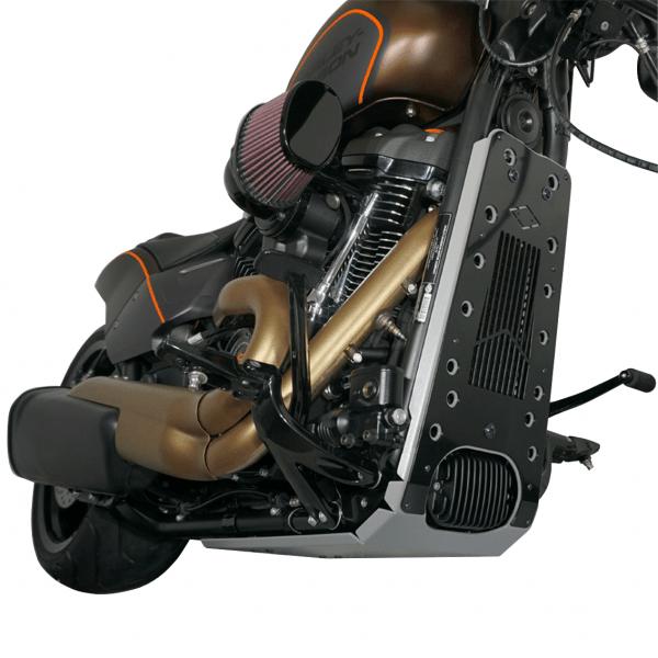 Motorschutz Unterfahrschutz Bugspoiler silber/schwarz für Harley Davidson Softail FXDR ab Bj. 2019