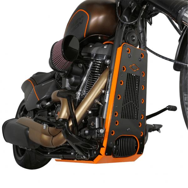 Motorschutz Unterfahrschutz Bugspoiler | orange/schwarz