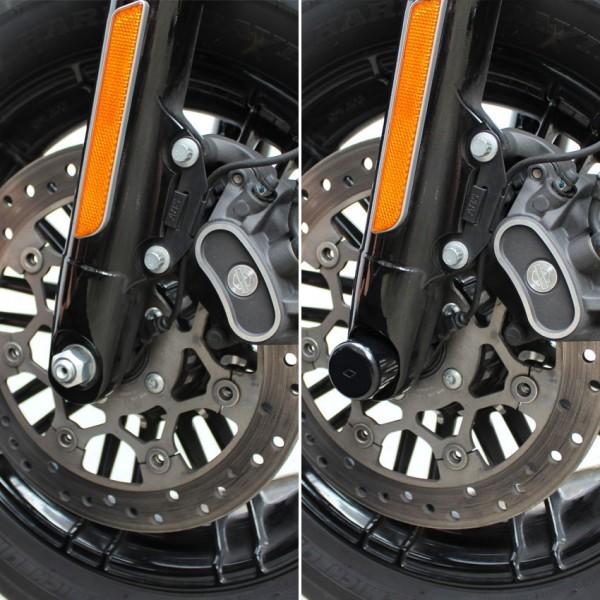 Achsen Cover Front für Harley Davidson Sportster Modelle Bj. 2016-2020