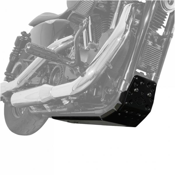 Motorschutz Unterfahrschutz Bugspoiler schwarz/schwarz für Harley Davidson Sportster Modelle ab 04