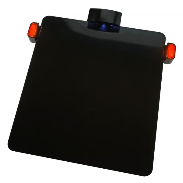 Kennzeichenhalter Platte mit KZ Beleuchtung + mini LED Bremslicht / Rücklicht