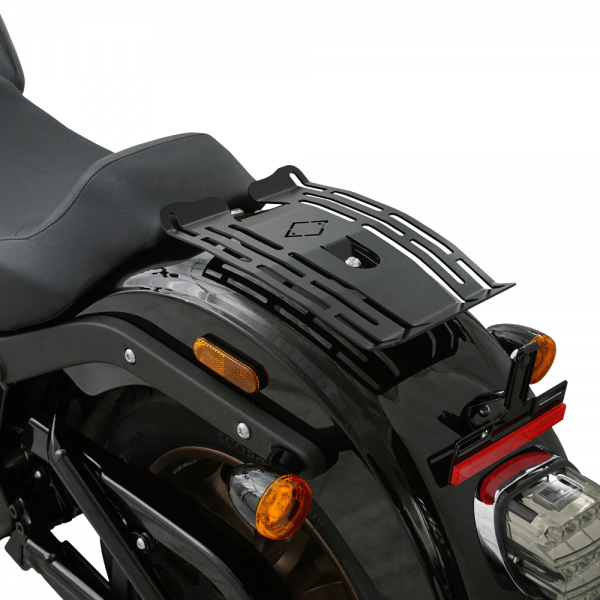 IRON OPTICS Gepäckträger für Harley Davidson Softail Heritage & Deluxe ab Bj. 2020