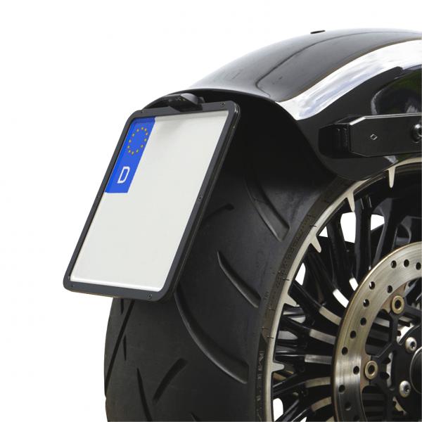 kurzer mittiger Kennzeichenhalter + Beleuchtung für Harley Davidson Breakout Bj.2013-2017 / Typ 2