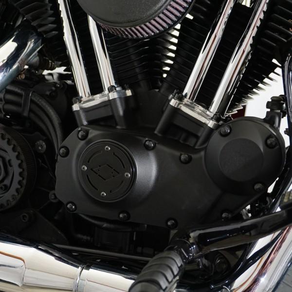 Point Cover / Zündungsdeckel schwarz / schwarz für Big Twin Modelle / Sportster Modelle