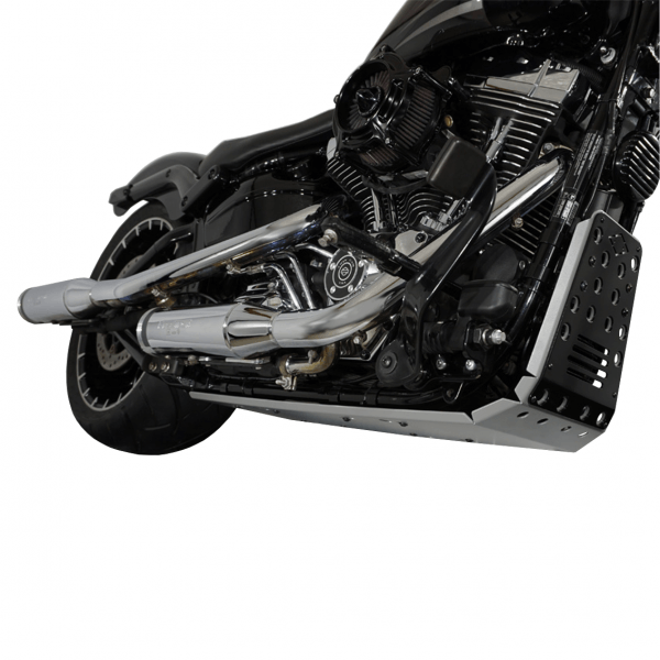 Motorschutz Unterfahrschutz Bugspoiler silber/schwarz für Harley Davidson Breakout bis Bj. 2017