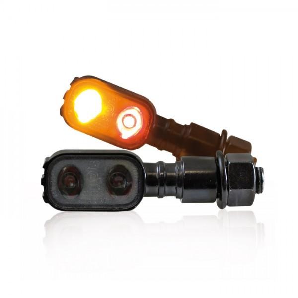"LED-Blinker Rücklichtkombi ""Fluted"", schwarz, M10, Power-LED, L 51 x B 17 x T 20mm, E-geprüft"