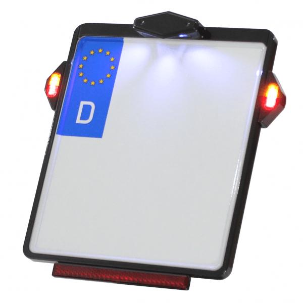 Kennzeichenplatte IOMP | Kennzeichenbeleuchtung | TIG 3 in 1