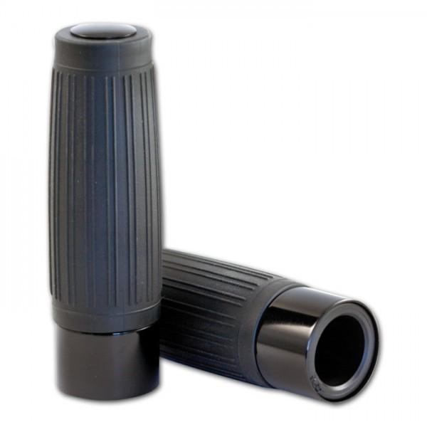 Custom Griff schwarz 1 Zoll Aluring und Enkappe in schwarz