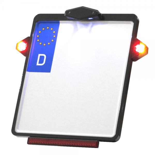 Kennzeichenplatte IOMP | Kennzeichenbeleuchtung | PINEY 3 in 1