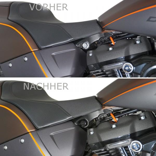 Schraubenabdeckung Cover Stoßdämpferschraube für HD Softail Modelle ab Bj. 2018