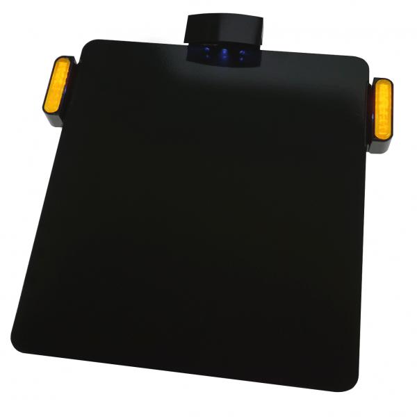 Kennzeichenhalter Platte mit KZ Beleuchtung + LED Blinker